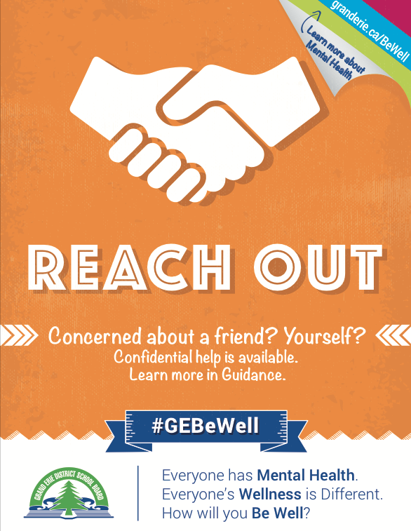 Be Well poster promotes Reach Out