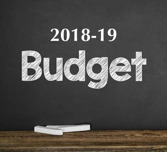 "A graphic shows the word ""budget"" written on a chalk board"