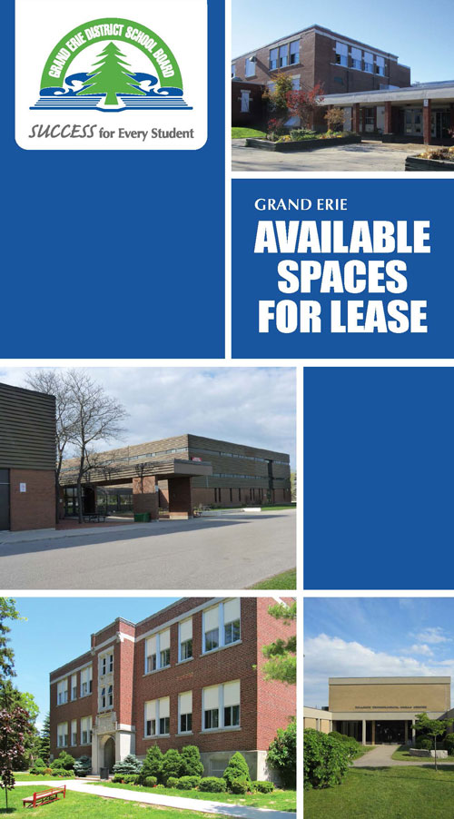 Cover Page of the Available School Space Lease Brochure