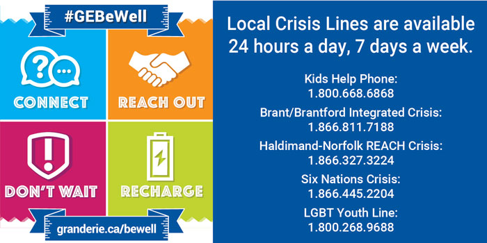 Crisis lines poster information