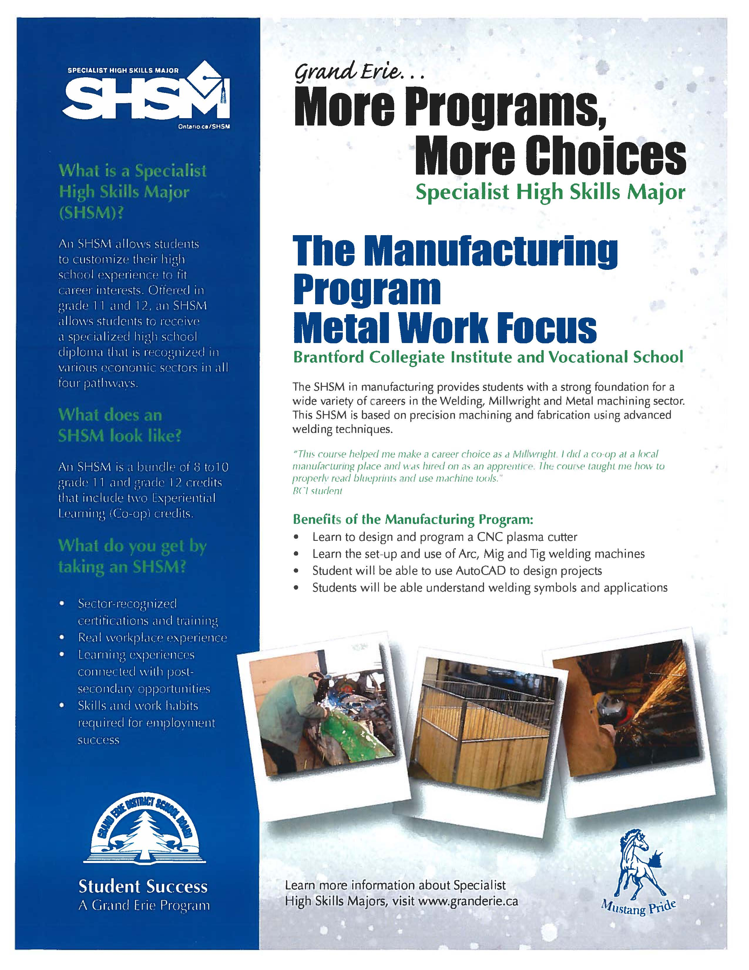 Manufacturing SHSM Handout