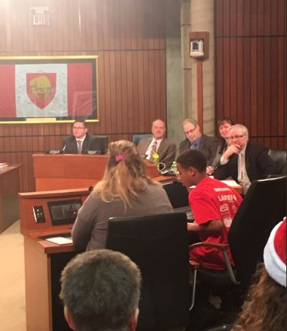Student presents at Brantford City Council meeting