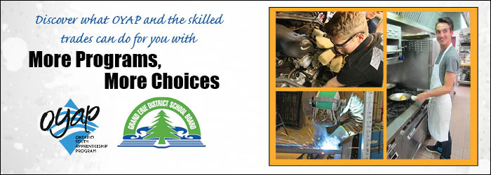 Graphic header promotes Ontario Youth Apprenticeship prgram