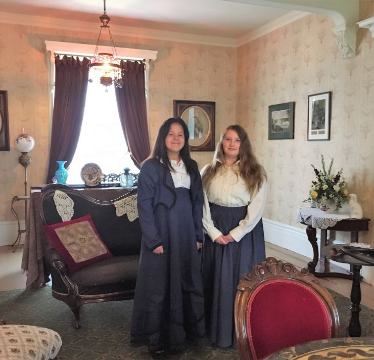 Students in period costume
